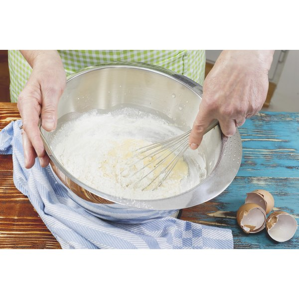 Woman mixing batter in a bowl