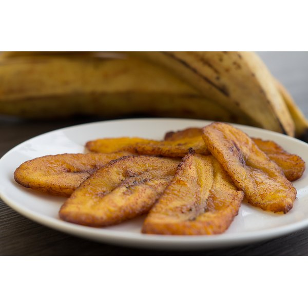 A plate of fried plantains.