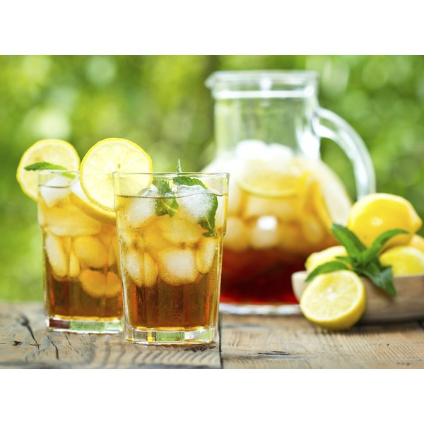 Iced tea is a good way to stay hydrated.