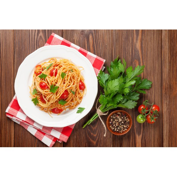 Barilla's traditional pasta has 200 calories per serving.