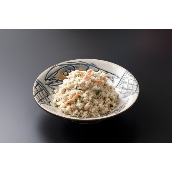 A plate of Okara ready to be served.