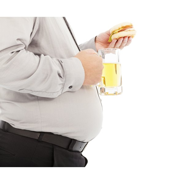 A big belly can cause back problems.