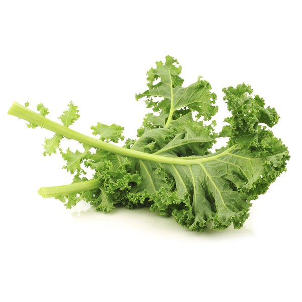 Kale is low in calories and high in fiber.
