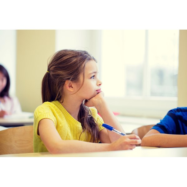 Children with ADHD have difficulty maintaining attention in class.