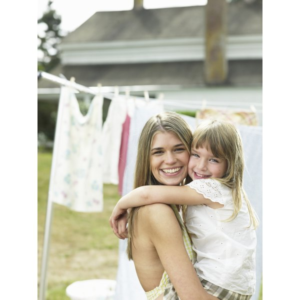 Restore dirty white clothing using all-natural laundry materials.