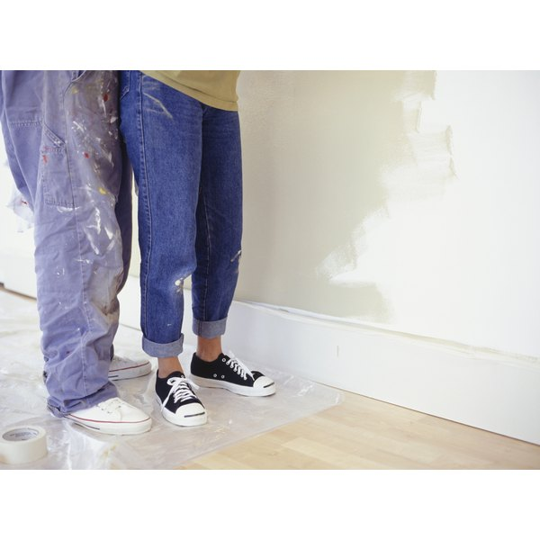 You likely won't be able to get paint out of Dockers pants.