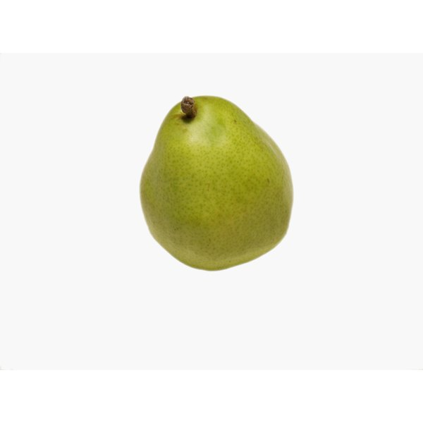 The skin of a pear is edible.
