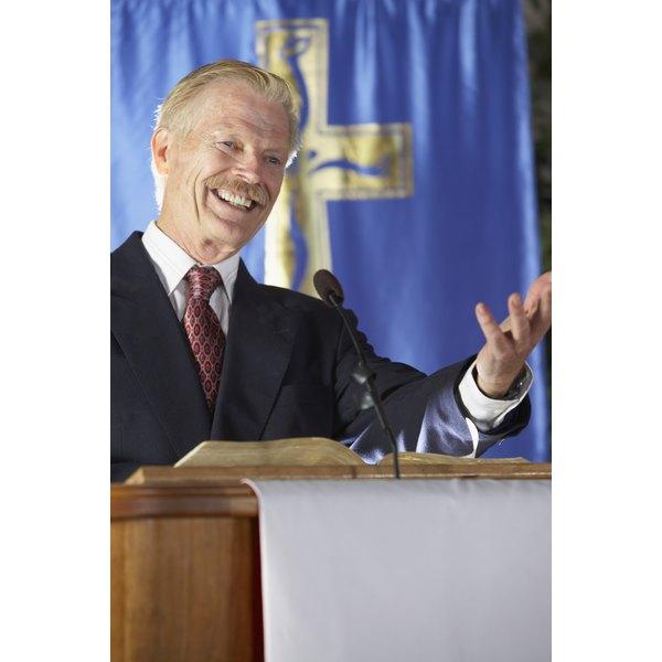 Evangelists are good public speakers.