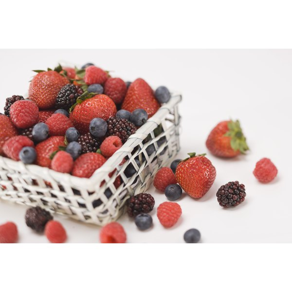 A basket of fresh berries.