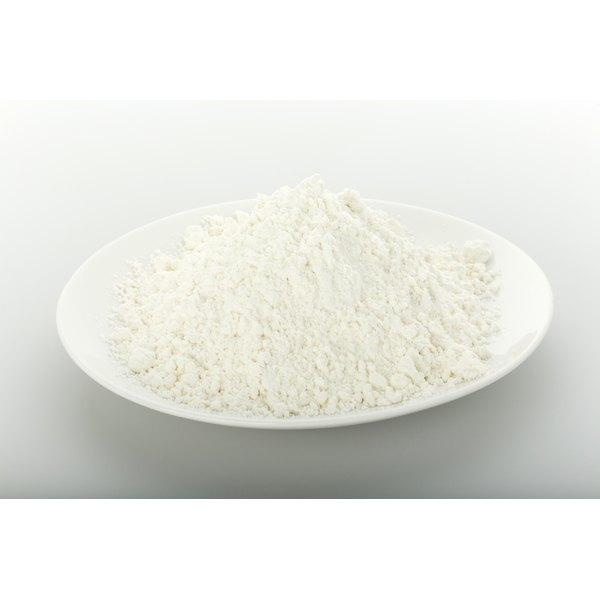 Flour sometimes contains calcium phosphate.