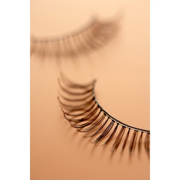 Proper application is key to keeping false eyelashes in place.