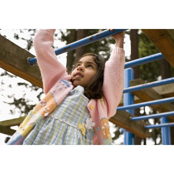 Playground equipment encourage imaginative as well as physical play.