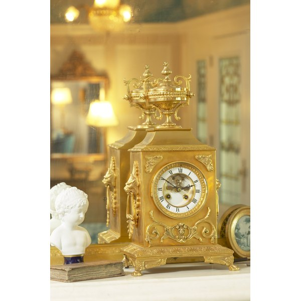 Gold clocks are commonly given for a 50th anniversary.