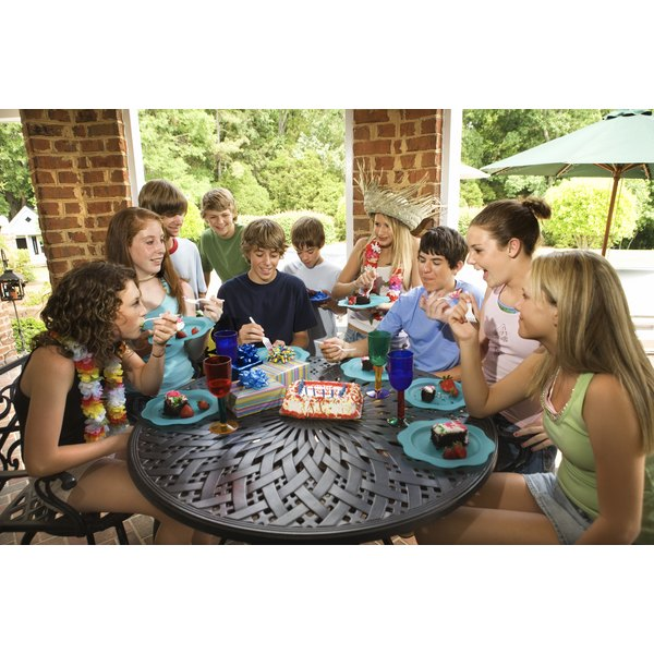 Plan birthday party games that will challenge both teens and adults.