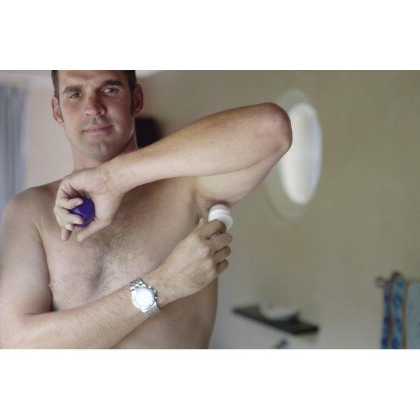 Deodorant helps combat odors.