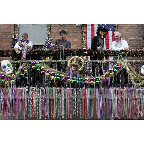 Beads are used as decor and barter during the wild celebration.