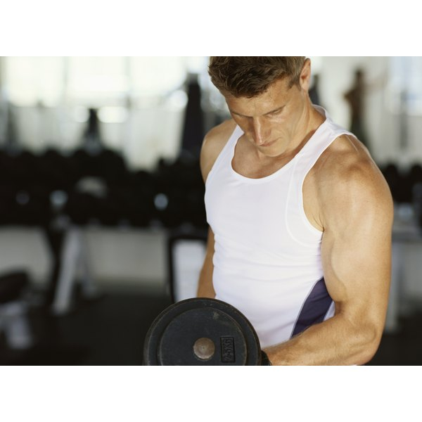 A weight lifter must control calories to prevent fat gain while building muscle.
