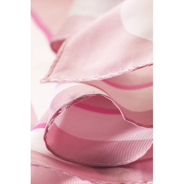 Silk chiffon fabric is often used in scarves and special-occasion garments.