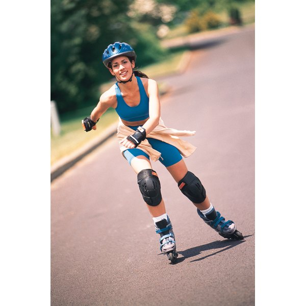 Rollerblading can help android body types slim down and tone their legs.