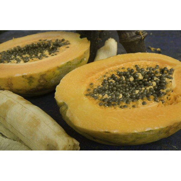 A papaya has a medium glycemic index value.