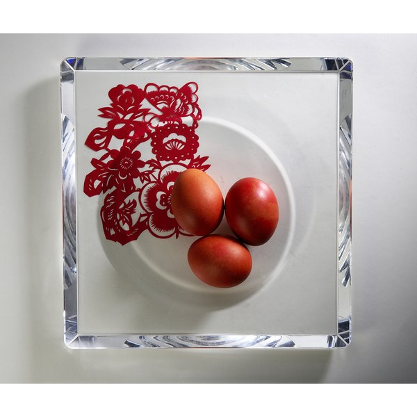 Distribute red eggs to family and friends at your Chinese baby shower.