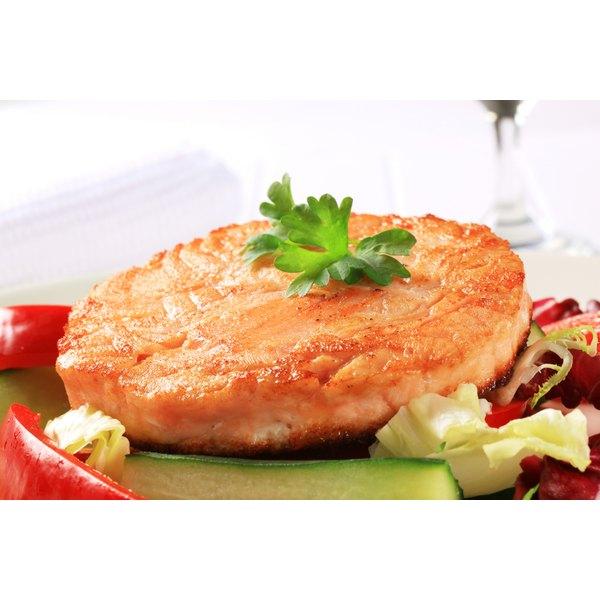 A fresh salmon patty.