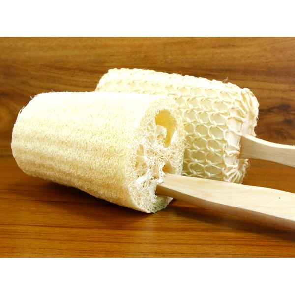 Use a loofah as part of your shower routine to help keep skin smooth.