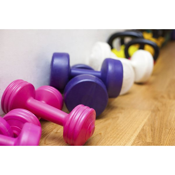 Using free weights help to build calorie-burning muscle.