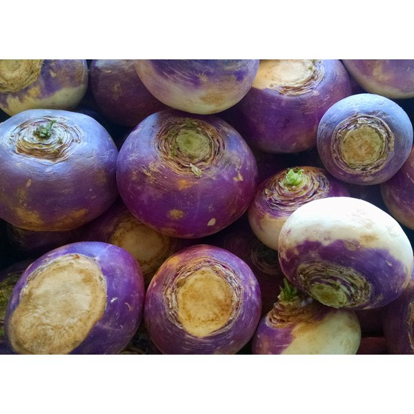A stack of waxed turnips.