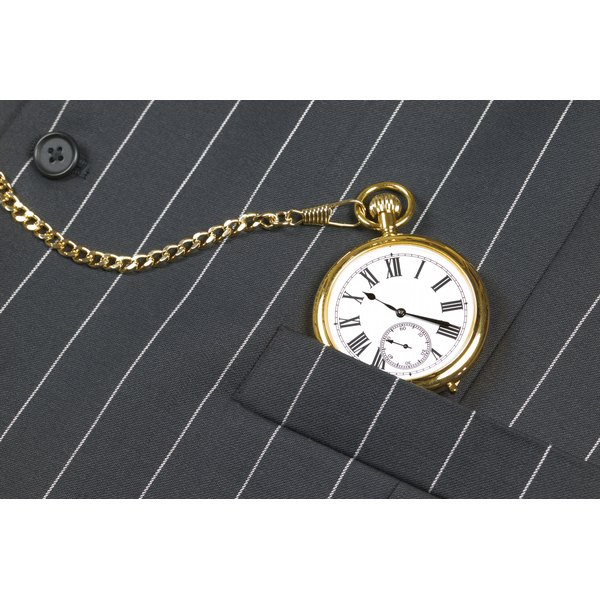 Pocket watches are traditionally worn in vests.