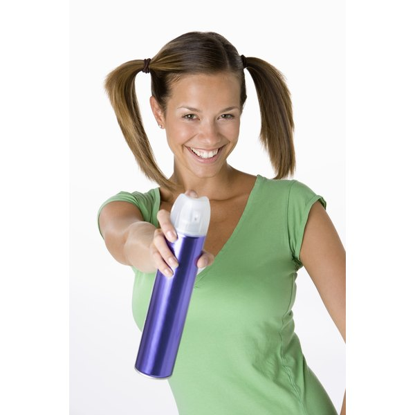 Hair spray helps to maintain your hairstyle overnight.