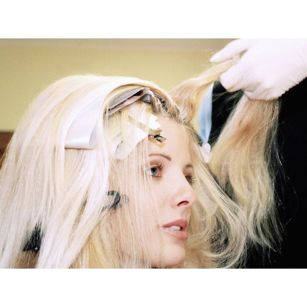 Use peroxide to lighten your hair to blonde.