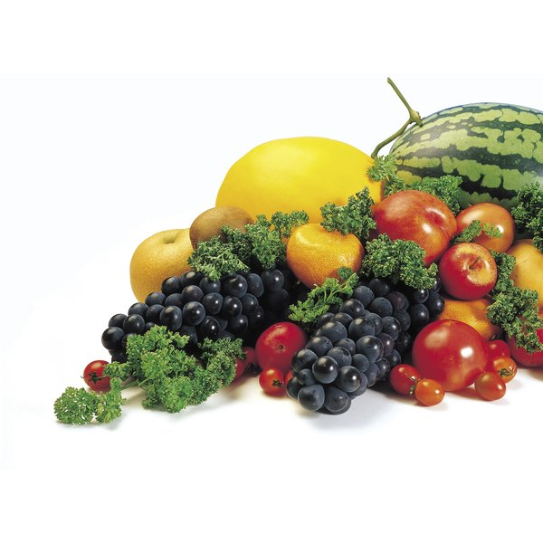 Vegetables and fruits are a good source of soluble and insoluble fiber.