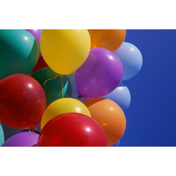 Balloons to celebrate a birthday.