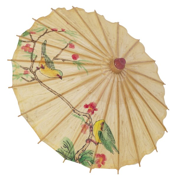 Painted parasols are traditional Japanese accessories.