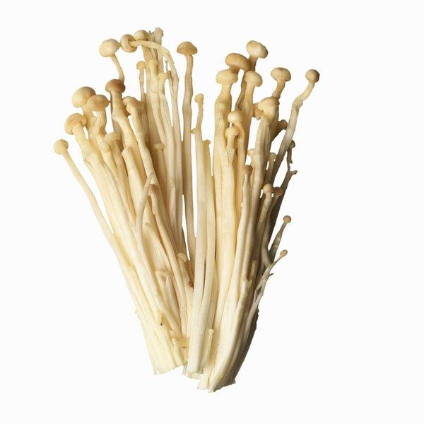 Enoki mushrooms have a distinctive look and flavor.