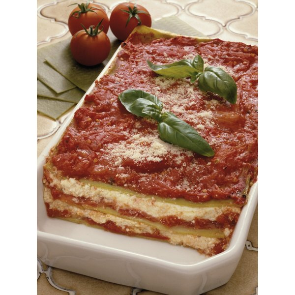 Make lasagna ahead of time and enjoy for dinner later.