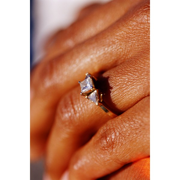 Cleaning your diamond ring will keep it sparkling.