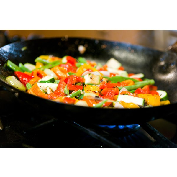 Constant stirring helps vegetables cook evenly.
