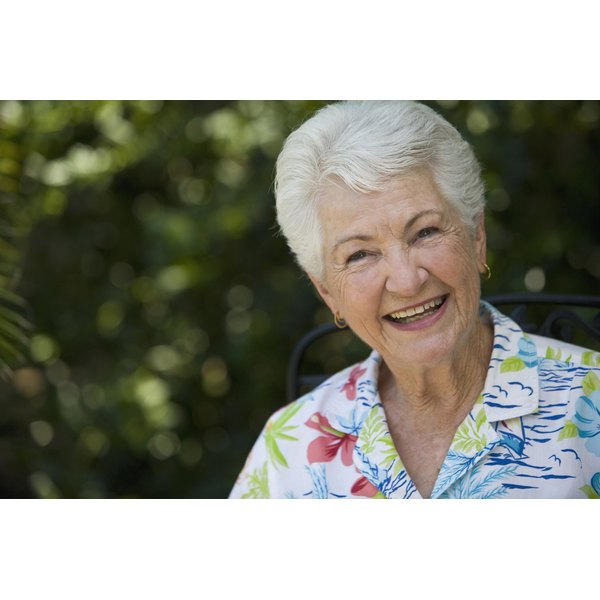 White hair kept in pristine condition can be a sign of graceful aging.