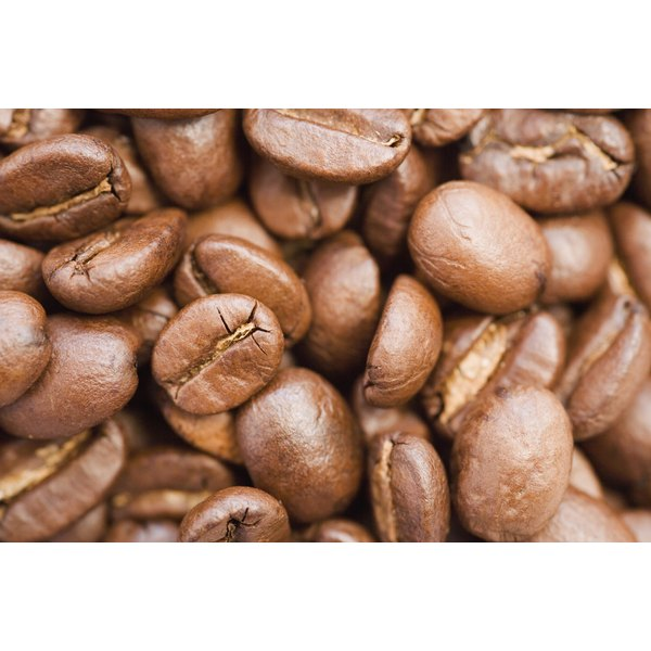 Close-up of a pile of coffee beans.