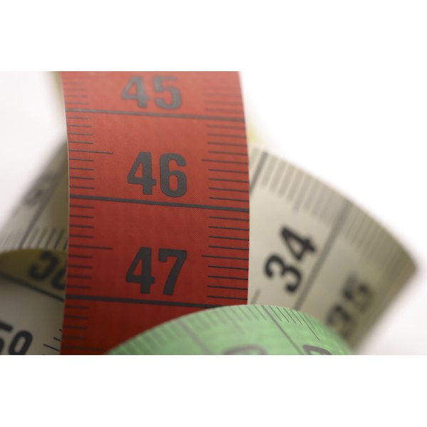 Tape measures measure length and width.