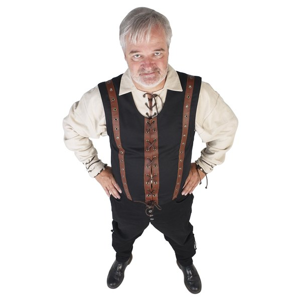 A medieval jerkin was a functional garment, usually made of leather, worn for protection and warmth.