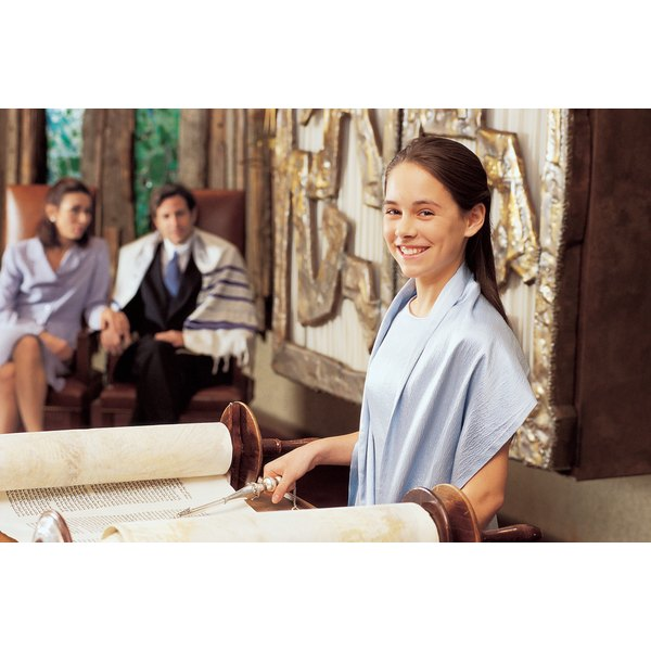 Bar and bat mitzvahs symbolize the transition into adulthood for Jewish children.