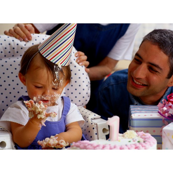 Add a banner to decorate a baby's high chair.