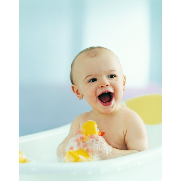 Safe, natural hair conditioners make bathtime a happy time for babies.