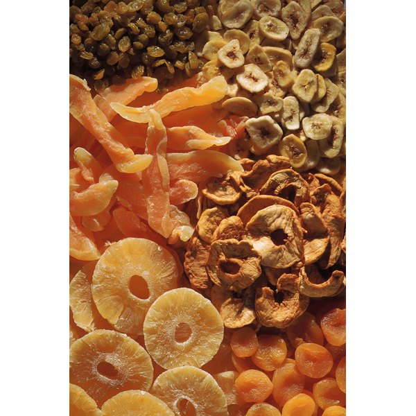 Dried fruits can be made at home in an oven or dehydrator.