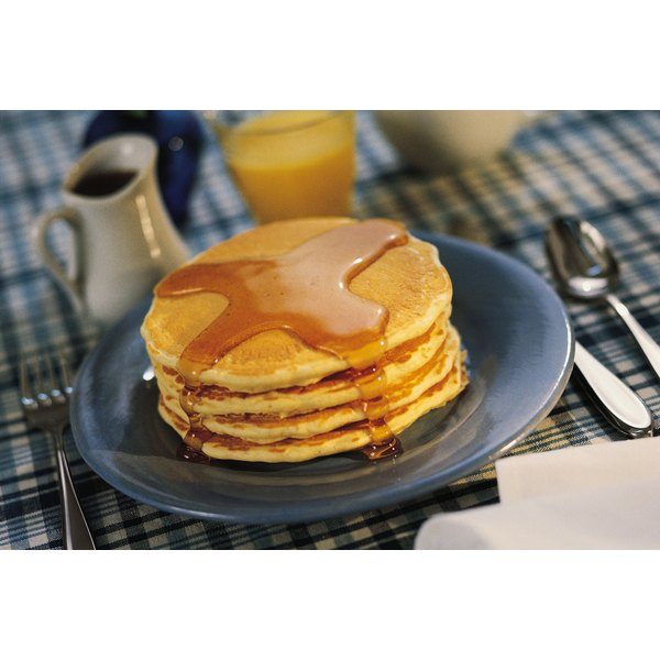 Pancakes are a filling breakfast treat.