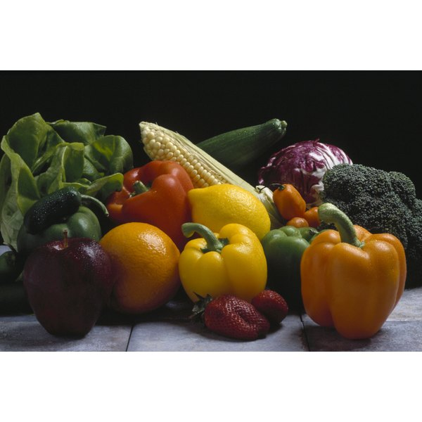 Carotenoids are responsible for the red, orange and yellow pigments in fruits and vegetables.