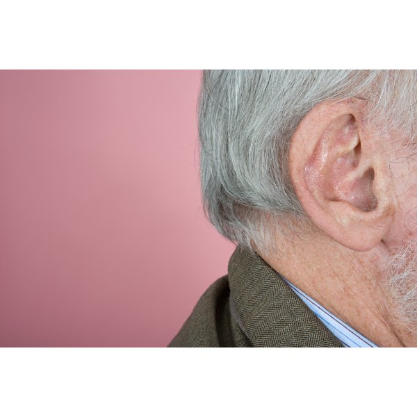 Senior man's ear